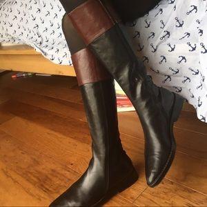 Ann Demeulemeester Shoes - Ann Demeulmeester knee high brown black boots 39 9