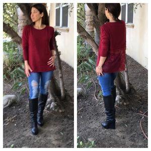 Sweaters - Paris lace back sweater