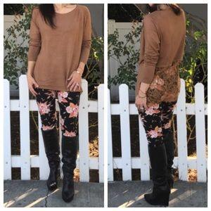 Sweaters - Paris lace trim sweater