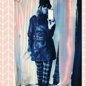 Romeo + Juliet Couture black FAUX leather coat