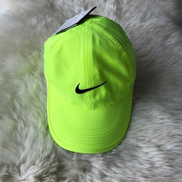 5dbccc9c Nike Accessories | Neon Drifit Featherlight Cap | Poshmark