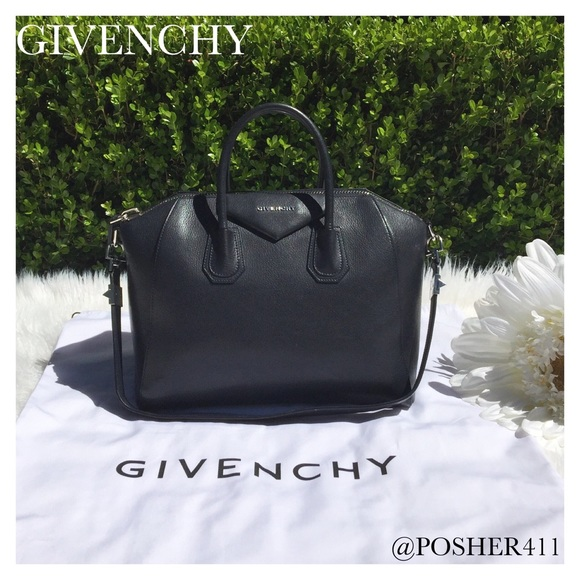Givenchy Bags   Deep Black Navy Antigona Bag   Poshmark d07dd6404a