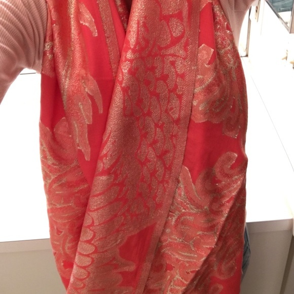67 cynthia rowley accessories new gold print orange