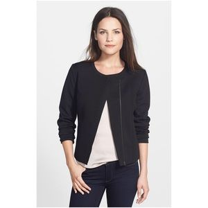 Halogen Jackets & Blazers - Halogen Black Knit Moto Jacket XSP