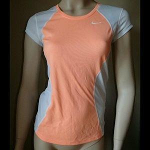 Nike Running Orange/White Top XS - NWT