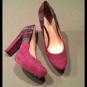 Belle by Sigerson Morrison Shoes - BELLE Sigerson Morrison Purple Sued Pump