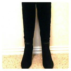 ***Never Worn**** Black Suede Boots