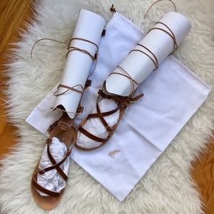 Ancient Greek Sandals Shoes - NWT: Ancient Greek Brown Leather Sandals