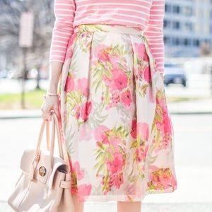 Floral Spring Midi Skirt