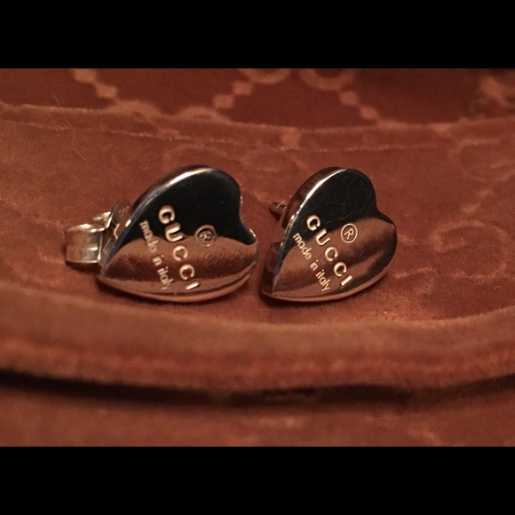 a2646cc0797 Gucci Jewelry - Gucci silver heart stud earrings