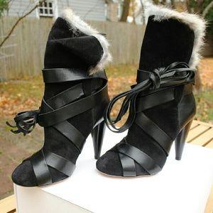 Isabel Marant Net Boots Fur Suede Size 37 NWB