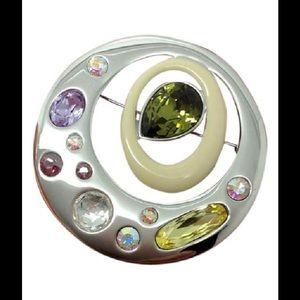 Swarovski Jewelry - Swarovski, multistone, crystal, pin, brooch