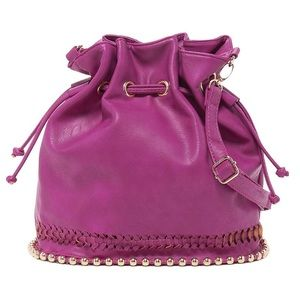 Kiss Me Couture Handbags - ❤️HP! 1/5!!🎉Studded bucket bag by Kiss Me Couture