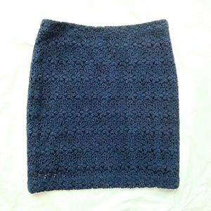 Forever 21 Dresses & Skirts - Forever 21 Blue Lace Skirt