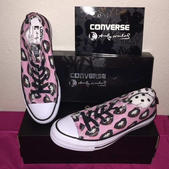 e1794d3659722b CONVERSE ANDY WARHOL MARILYN MONROE LIPS LOW TOPS!