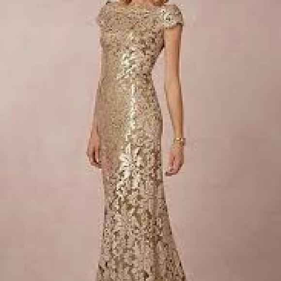 Tadashi Shoji Dresses | Bhldn Odette Sequin Lace Gown | Poshmark