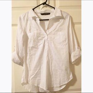 Zara basic button up in white size M