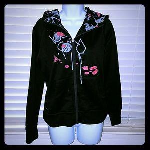 🆑*Black graphic hoodie*🆑