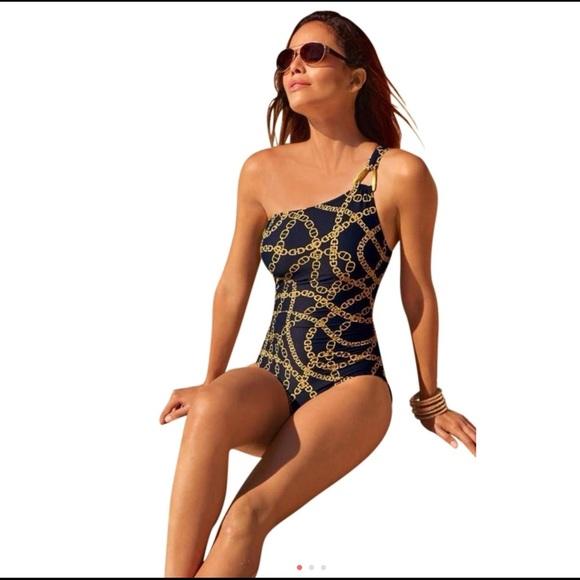 57e19f6623b40 Michael Kors One shoulder swimsuit