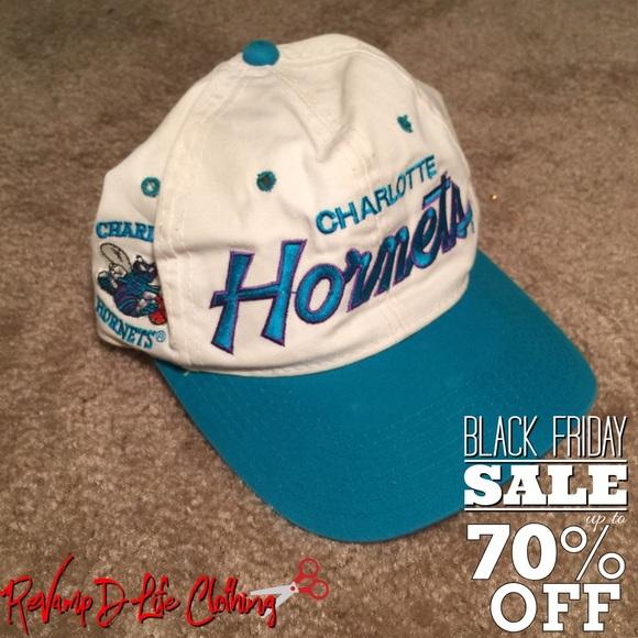 Vintage retro official Charlotte Hornets hat. M 5838299113302ace840298c5 484ceefb3de