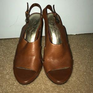 Jessica Simpson Shoes - Jessica Simpson Heels Camel Color size 7