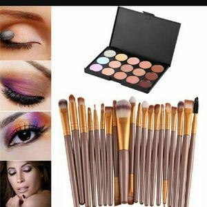 Other - Sanwony women 15 contour eyes color plus brush fac
