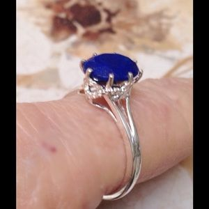 Lapis Lazuli Sterling Silver Solitaire Ring