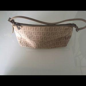 Fendi Handbags - Authentic Fendi Zucchino canvas pochette