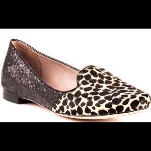 VINCE CAMUTO Lillian 3 glitter faux leopard flats