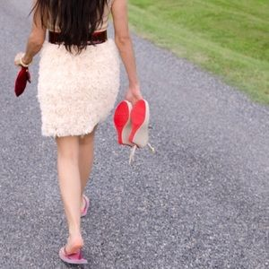 NWT Zara Pink Rosette Bodycon Tank Dress M L