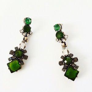 LAST ONEHPnew J. Crew green statement earrings
