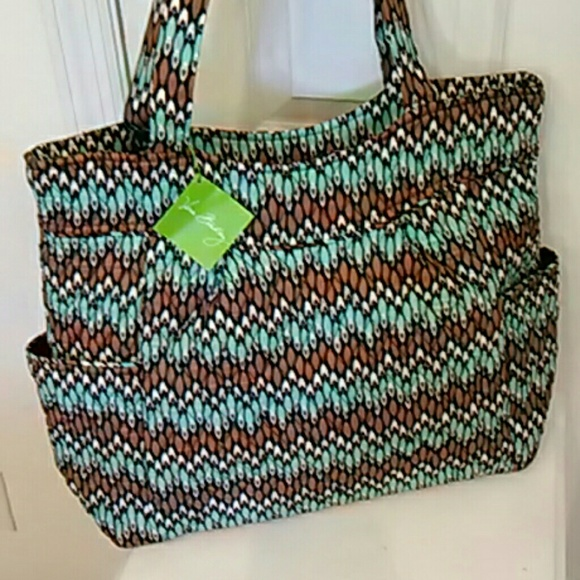 bb3340baa8 Vera Bradley NWT pleated tote in Sierra Stream