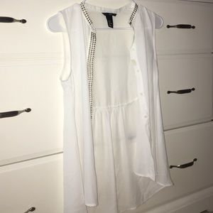 Sheer shirt with buttons H&M