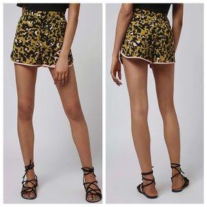 Topshop Pants - Topshop animal print runner shorts