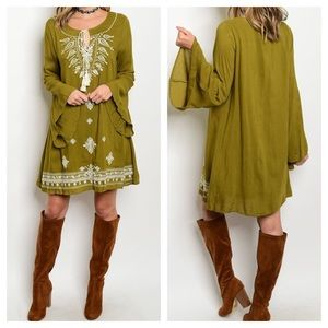 Dresses & Skirts - ☃️☃️ HP 12/6☃️☃️New - Embroidery Tunic Dress