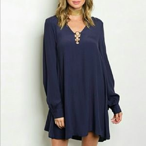 Dresses & Skirts - 💋LAST 2💋NAVY BLUE Tunic dress