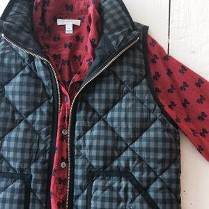 J. Crew Factory Jackets & Blazers - J Crew Plaid Vest