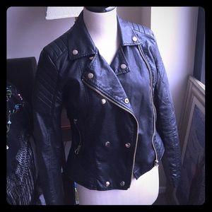 Forever 21 Jackets & Blazers - Biker moto jacket gold accents
