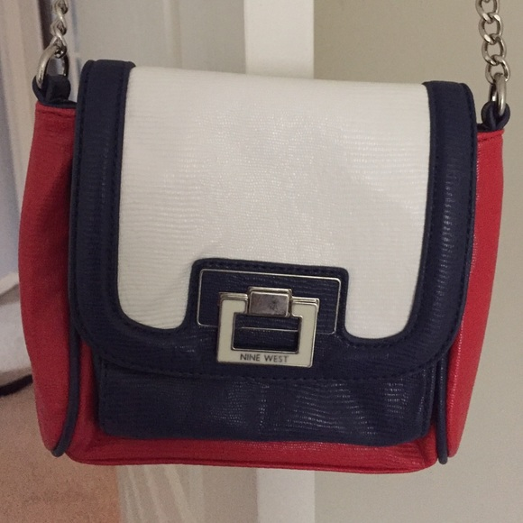 75% off Nine West Handbags - Nine West red white & blue crossbody ...
