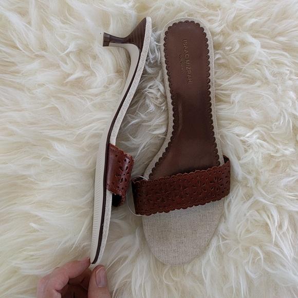 1ec3b4e4a577 Isaac Mizrahi for Target brown kitten heel sandal