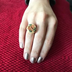 Jewelry - Red & Tan Wire wrapped Ring