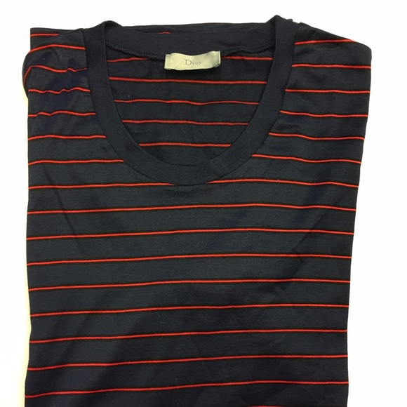 d07a3a065cb1b Dior Other - Dior Homme Size M Navy with Red Stripes