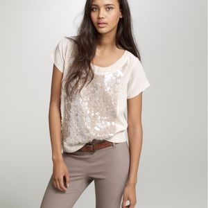 J.crew silk sequins top