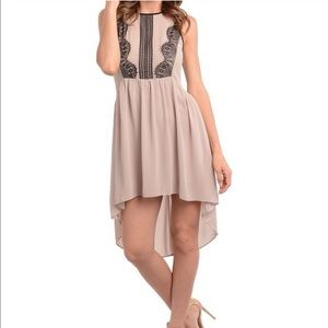 Mocha and Black chiffon dress