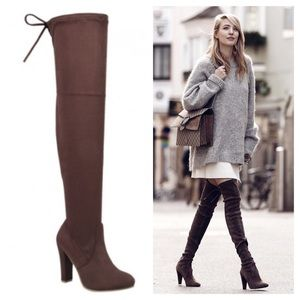 clmayfae Shoes - ▪️CLEARANCE *LAST1*Brown Suede Over the Knee Boots