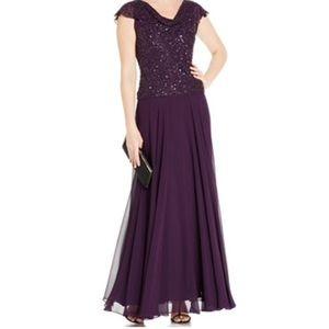 J Kara Dresses & Skirts - Flutter Sleeve evening gown