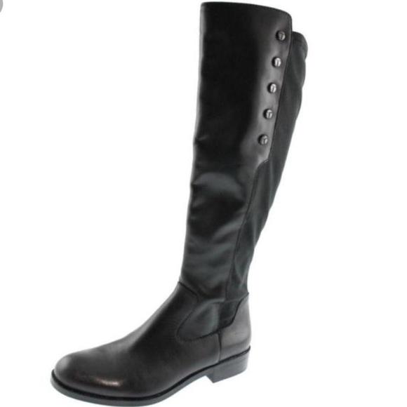 Tahari Brady Black Leather Riding Boots