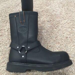 Harley-Davidson Other - Harley Davidson steel toe black leather boots NWOT