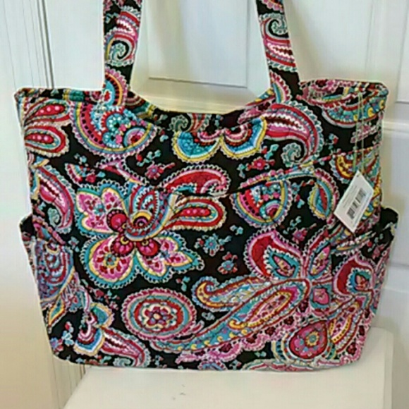 f8f64fb833 Vera Bradley Pleated tote in Parisian paisley