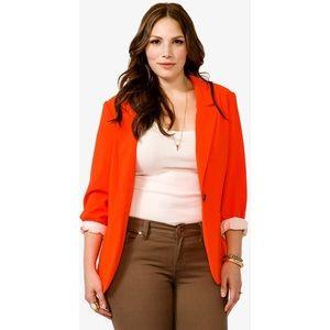 F21 PLUS Size Orange Blazer Size 3X